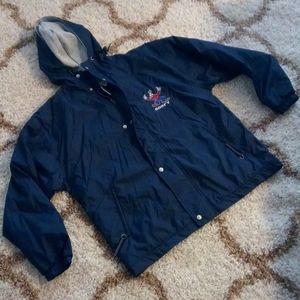 NWT Goofy Windbreaker/Jacket blue hooded Med